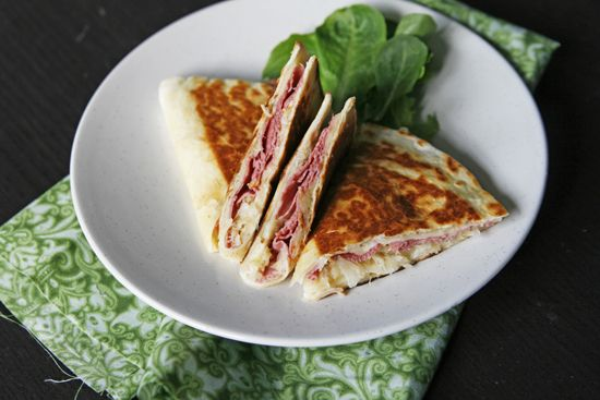 Talk about mixing it up!  Corned Beef Quesadillas  Posted by Sarah's Cucina BellaA Mexican classic meets a St. Patrick's Day favorite in this matchup.