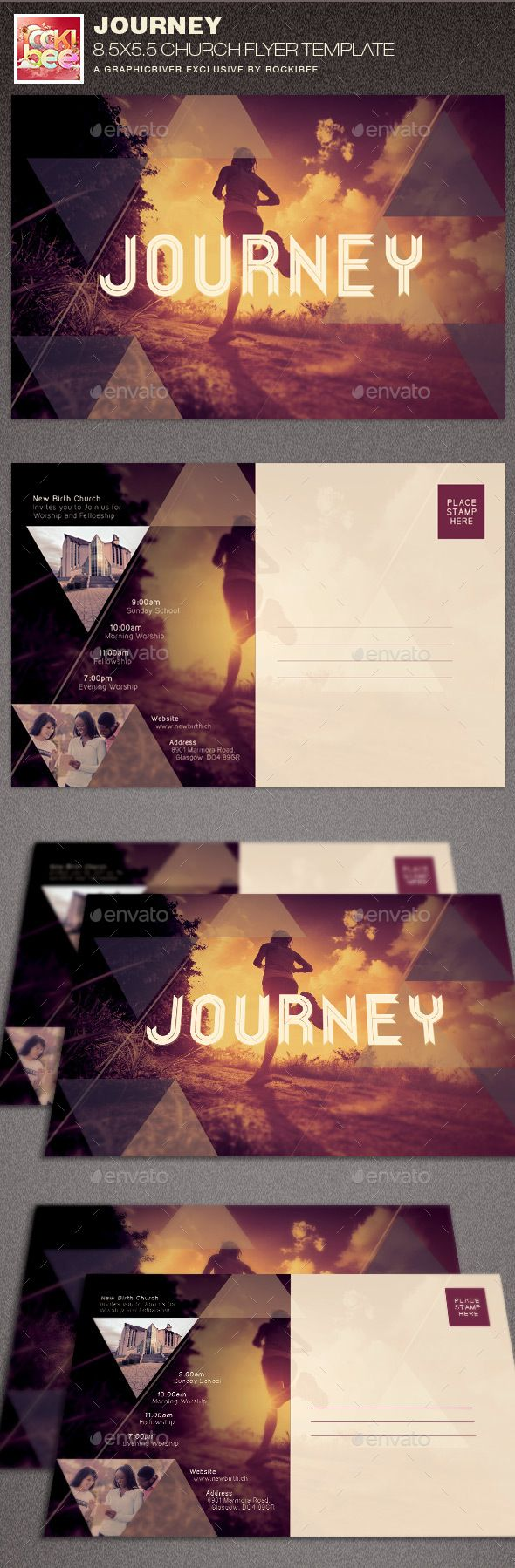 Journey Church Flyer Template — Photoshop PSD #revelation #place prepared • Available here → https://graphicriver.net/item/journey-church-flyer-template/15480128?ref=pxcr