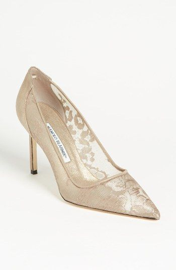 Manolo Blahnik Lace Pump Available At Nordstrom