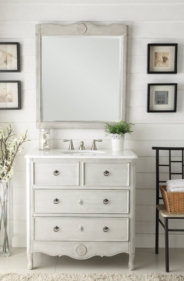 18 best Rustic Cottage Style Vanities images on Pinterest | White ...