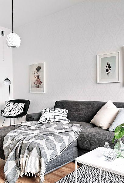 607 besten wohnzimmer skandinavisch bilder auf pinterest Sofa grau skandinavisch