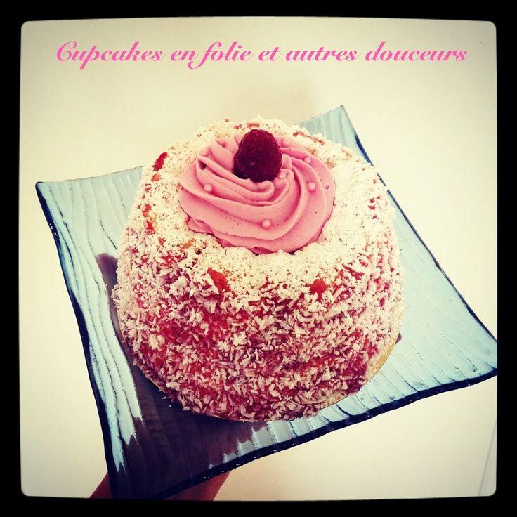 Angel Cake Coco//Framboises