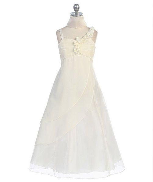"""Φορέματα για Παρανυφάκια - Επίσημα Φορέματα για Κορίτσια :: Πανέμορφο και Μοναδικό Παιδικό Φόρεμα για Παρανυφάκι ή Πάρτυ σε Ιβουαρ - Ζαχαρί """"Mara"""" - http://www.memoirs.gr/"""