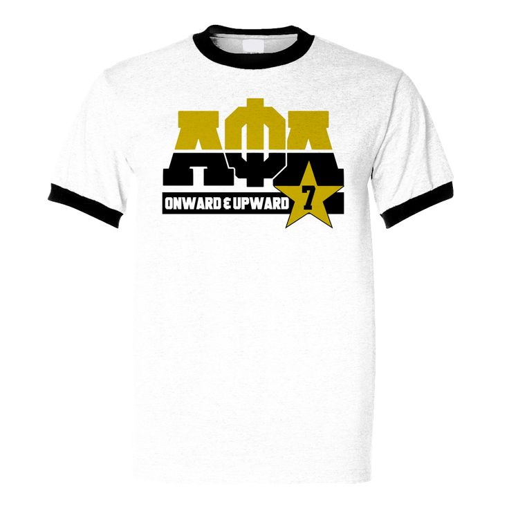 Alpha Phi Alpha Dream Ringer Tee - Letters Greek Apparel - Black Greek Paraphernalia