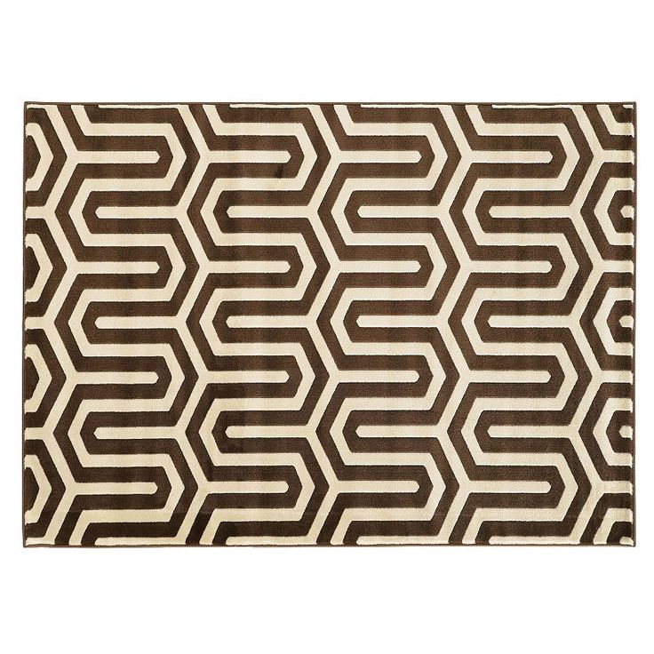 Shop Linon Moroccan Mekenes Camel Brown Rug: 1000+ Ideas About Brown Rug On Pinterest