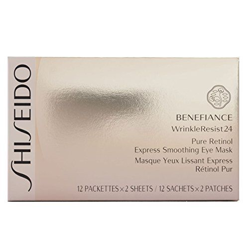 Shiseido Benefiance WrinkleResist24 Pure Retinol Express Smoothing Eye Mask for Unisex * To view further for this item, visit the image link.