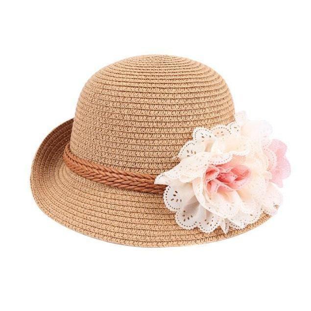2019 New Spring and Summer New Childrens Straw hat Flower Baby Girl Princess Outdoor Beach Sun hat Kids Beanies,2