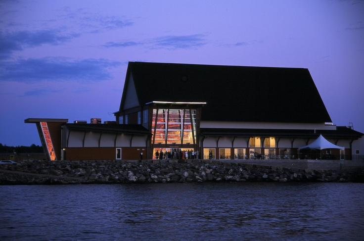 The Charles W. Stockey Centre on Georgian Bay in Parry Sound, ON.