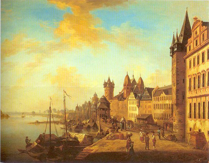 File:Frankfurt am Main Mainufer um 1760.jpg CG Shultz