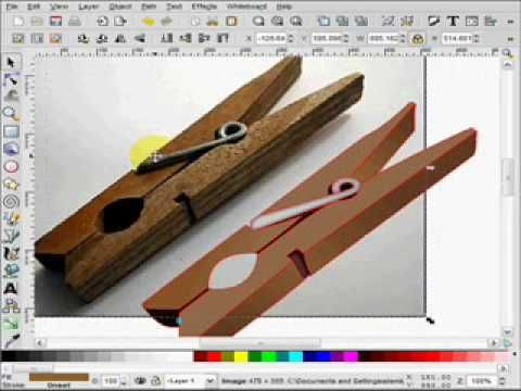 Inkscape bitmap to vector: This is tutorial that teaches you basics of tracing bitmap