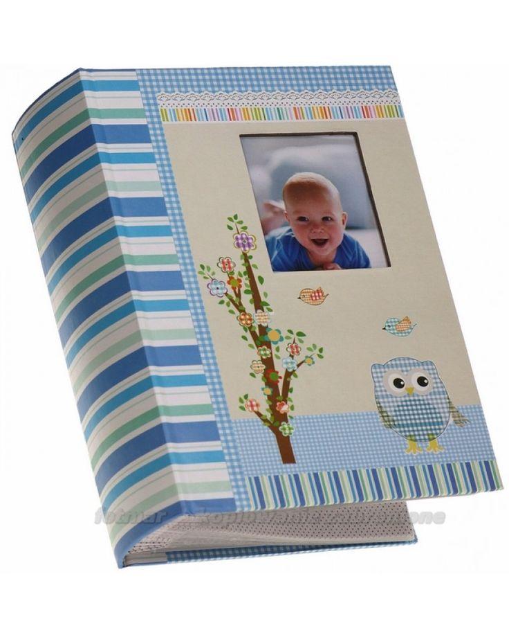Niebieski album na zdjęcia 10x15 szyty na 300 zdjęć Owlet
