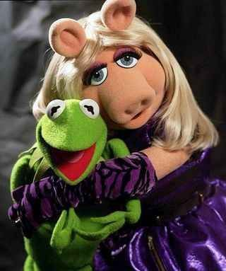 Kermit (first appearance 1955) and Miss Piggy (first appearance 1974)