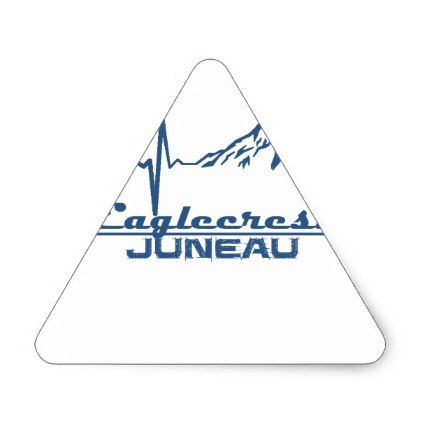 Eaglecrest  -  Juneau - Alaska Triangle Sticker - individual customized unique ideas designs custom gift ideas