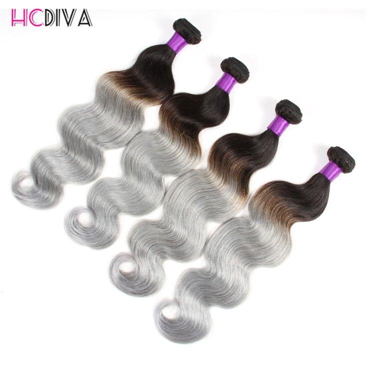 Grey Hair Weave Ombre Human Hair Extensions Peerless Virgin Hair Peruvian Body Wave Grade 7a Unprocessed Virgin Hair 4 Bundles