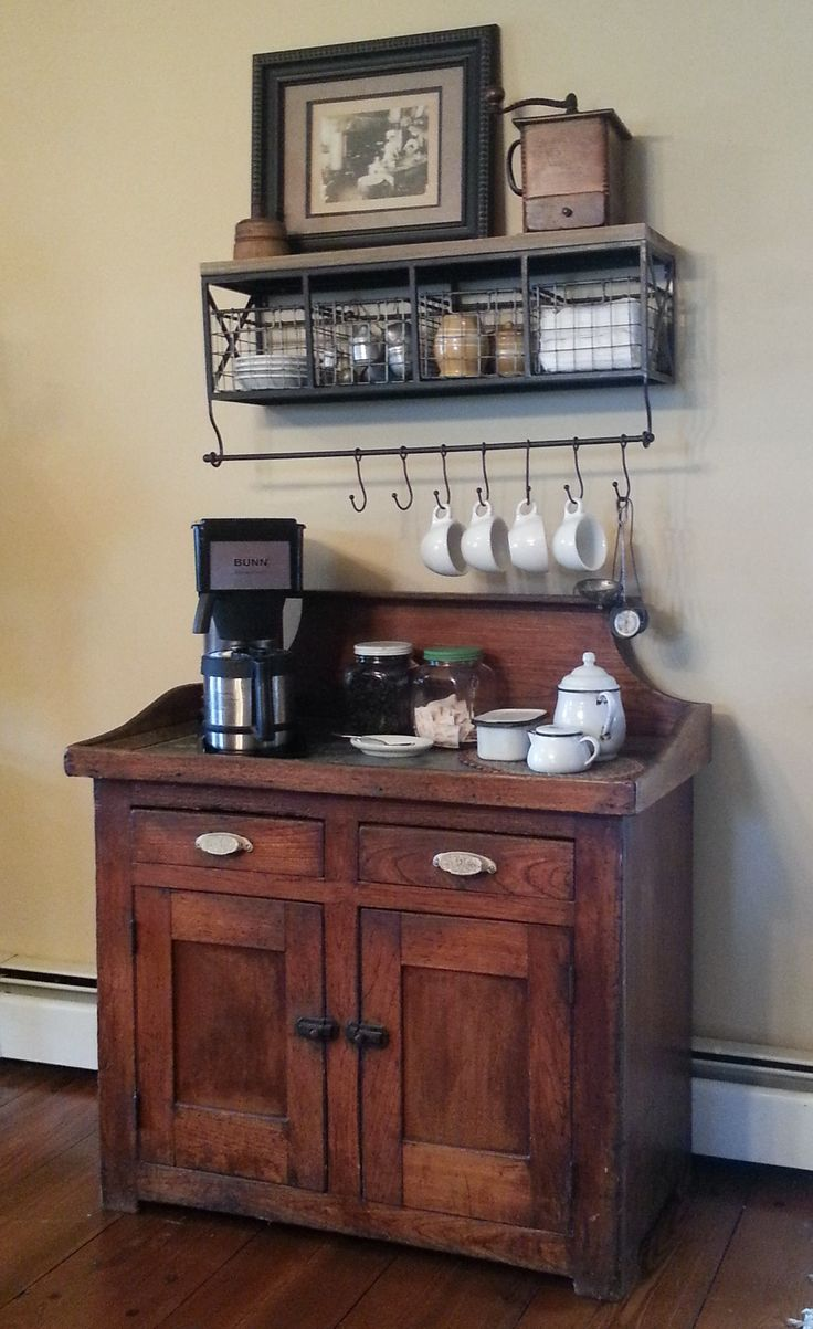 My AFTER version of the coffee center pinned by another very talented person.  I freed up some much needed counter space and modernized my room just a little.
