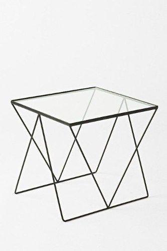 mesa diamond de hierro y vidrio