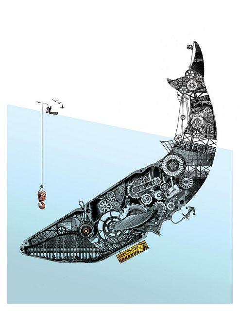 Ballena Mecanica by Diego Gráfico, via Flickr #whales #sealife #mammals