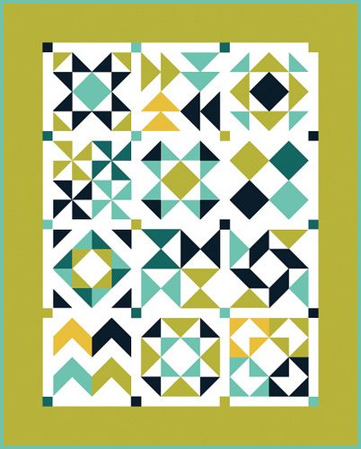 In Color Order: HST Block of the Month: Finishing and Quilt Reveal