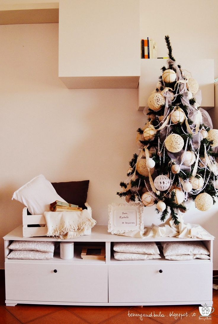 A Natale puoi..., albero di natale fai da te, christmas tree 2014, shabby chic christmas tree, white tree