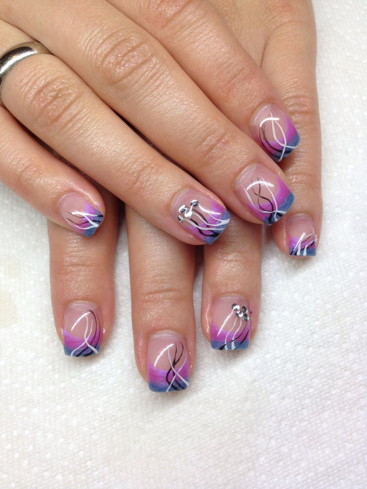 Best 25 square gel nails ideas on pinterest neutral acrylic gel nails with hand drawn design using gel by melissa fox prinsesfo Images