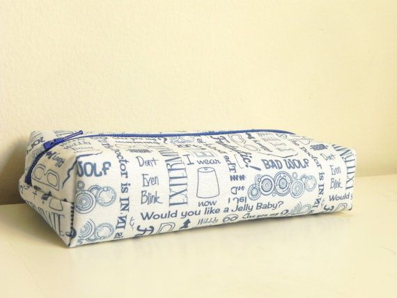 Doctor Who Quotes Pencil Make Up Box Case Pouch by TheThreeLimes, $14.98 #DoctorWho