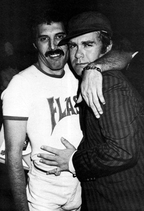 Freddie Mercury and Elton John