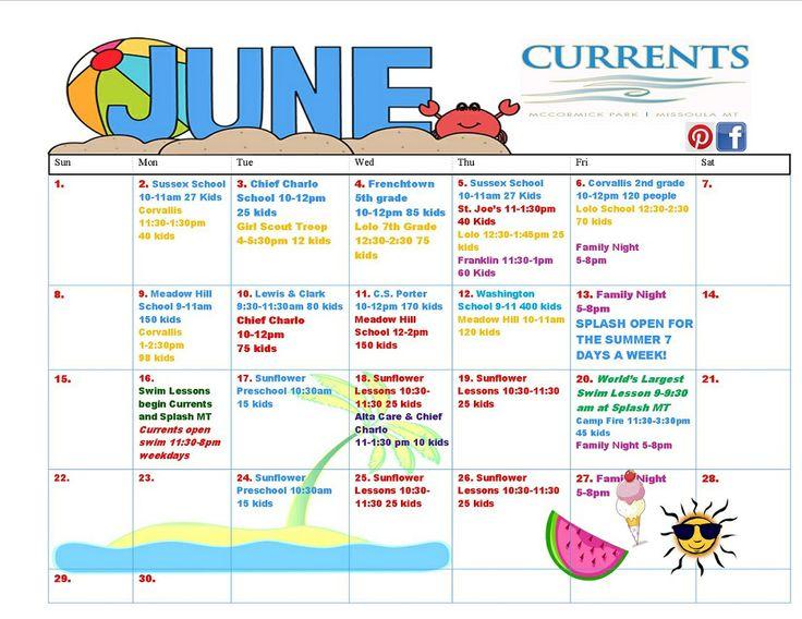 10 best Aquatics Calendars images on Pinterest - event calendar