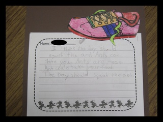 Hey Little Ant - great persuasive writing idea.