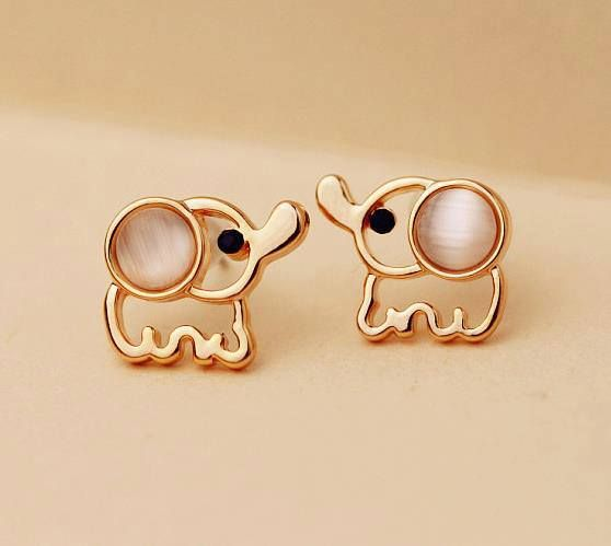 elephant earrings. i love elephants find more women fashion ideas on http://www.misspool.com Cool websites where to buy sexy dresses? . like my pins? like my boards? follow me and I will follow you unconditionally and share you stuff only if its pretty and cute :D https://www.pinterest.com/fancytempleshop :D