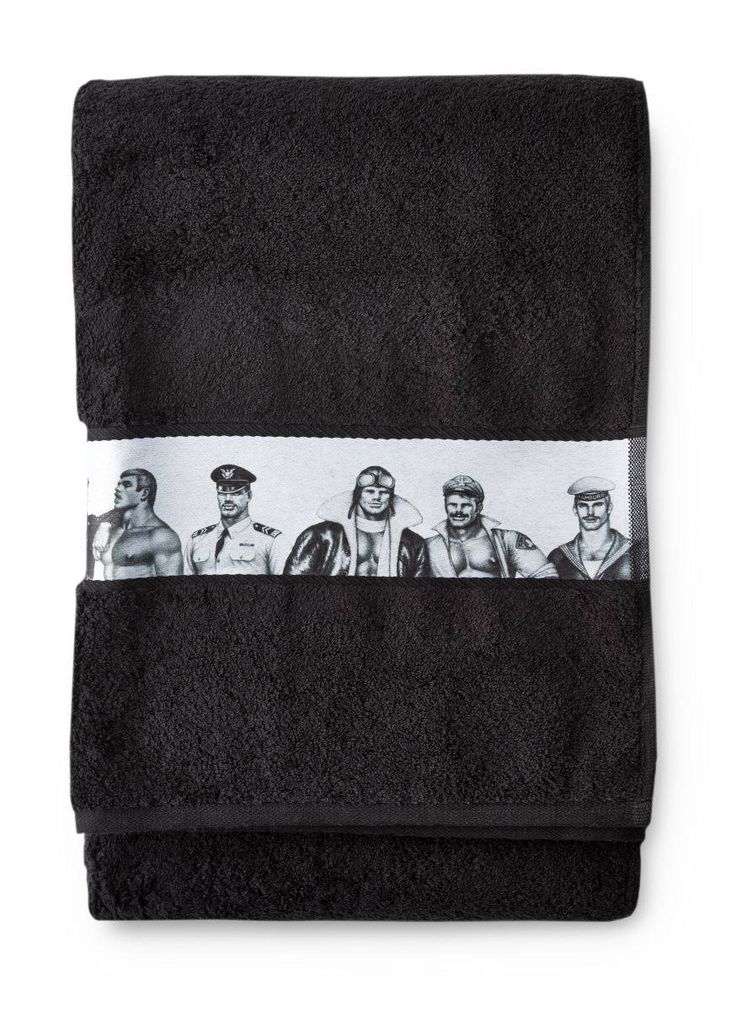 Have Tom of Finland's hunky men dry you off each time you step out of the shower.