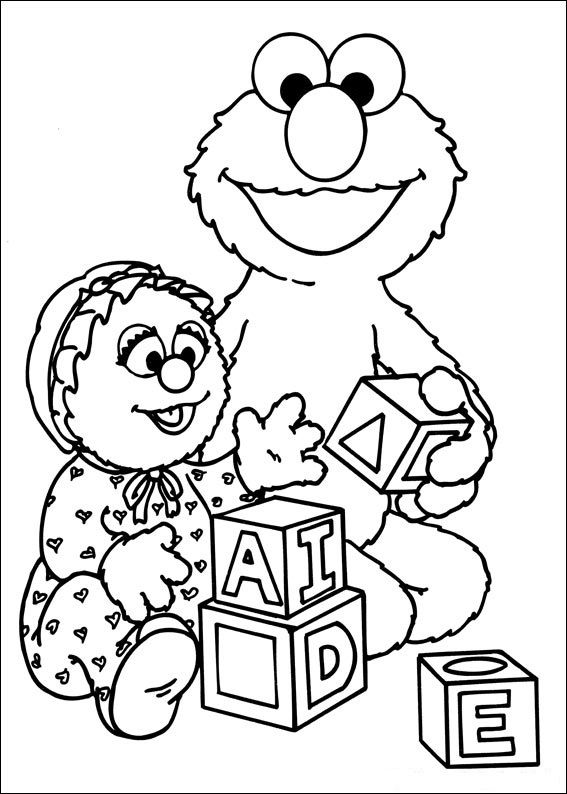 sesame street coloring pages free | 97 best images about Sesame Street Theme Baby Shower on ...