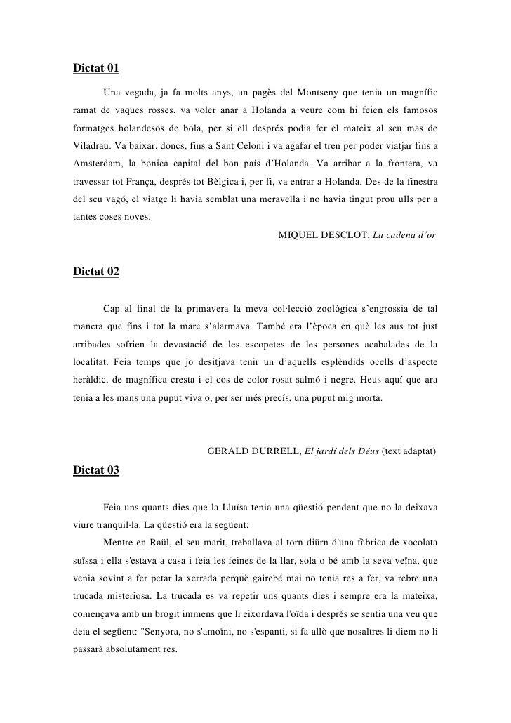 Dictat 01<br />Una vegada, ja fa molts anys, un pagès del Montseny que tenia un magnífic ramat de vaques rosses, va voler ...