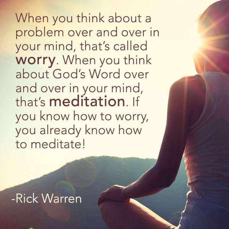When you think about a problemCrystina  #bible #god'sword #meditate #pray #rickwarren #think #wordofgod #worry