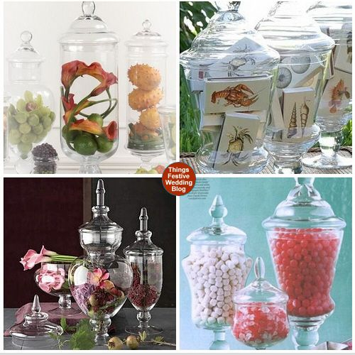 Apothecary jars are such elegant containers for a candy buffet