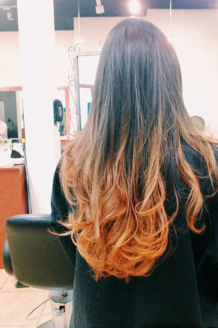 Ombre hair auburn hair makeup nails pinterest for A janet lynne salon