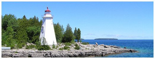 Flowerpot Island. Not sure what the lighthouse pic is.