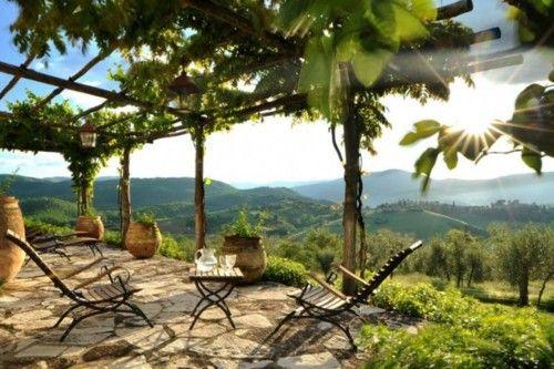 Col delle Noci Italian villaItalian Villas, Gardens Seats, Ears Mornings, The View, Rustic Style, Interiors Design, Outdoor Patios, Umbria Italy, Tuscany Italy