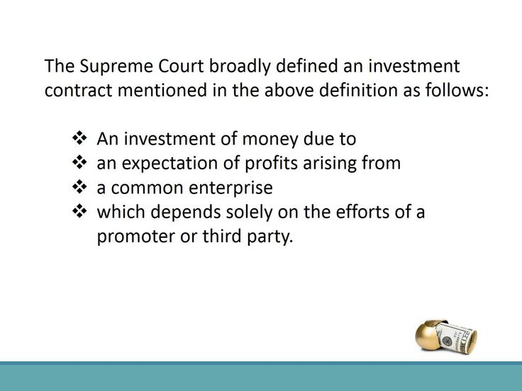 What In The World Is A Security? Securities Pinterest The - business investment contract