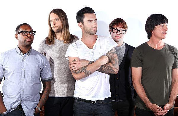 "Maroon 5 is PJ Morton, left, James Valentine, Adam Levine, Mickey Madden, Matt Flynn. The band likes having hits and made ""Overexposed"" to live up to its title.   MORE: Maroon 5 built 'Overexposed' to be just that"
