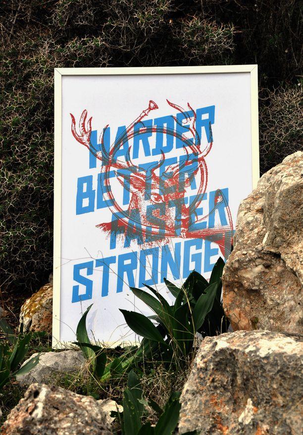 Harder, Better, Faster, Stronger  Poster for the 10 years of +design magazine.