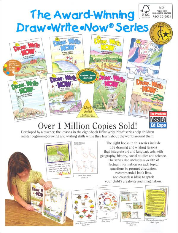 Draw-Write-Now Boxed set of 8 | Additional photo (inside page)