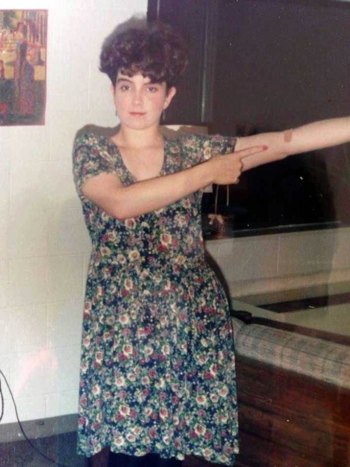 Tina Fey in college.  Holy crap, her style reminds me of my mothers back in the day.