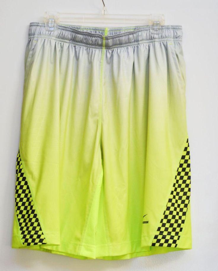 Nike Men Shorts Dri Fit Attack 1.3 Basketball Golf Yellow Green size XL NWT #Nike #Shorts