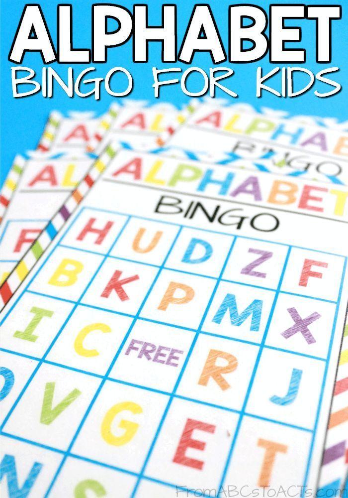 Printable Alphabet Bingo for Kids Alphabet bingo, Bingo