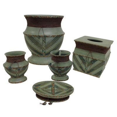 Sherry Kline Sedona 5 Piece Bathroom Accessory Set