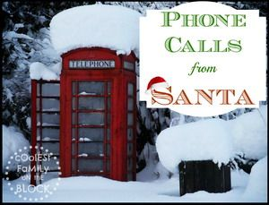 20 services that offer Phone Calls from Santa!  Some are free phone calls from Santa or to Santa's voicemail!