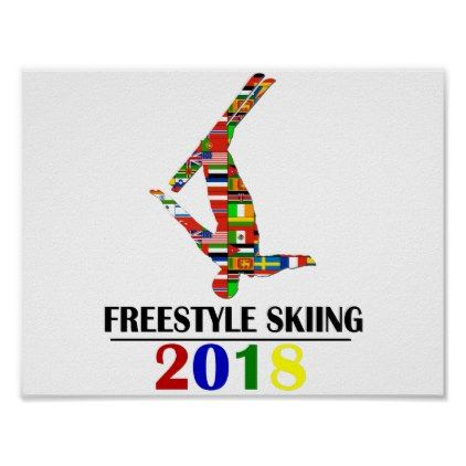 2018 FREESTYLE SKIING POSTER - winter gifts style special unique gift ideas