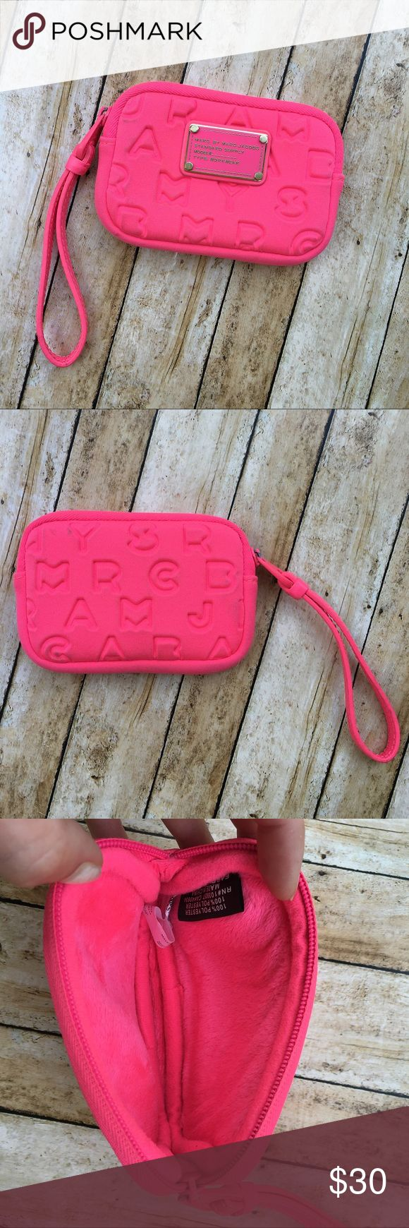 Marc by Marc Jacobs Wristlet Marc by Marc Jacobs Neoprene Wristlet. Cushioned to carry phone or can be used to carry credit cards and money. Minor wear consistent with use. Marc by Marc Jacobs Bags Clutches & Wristlets