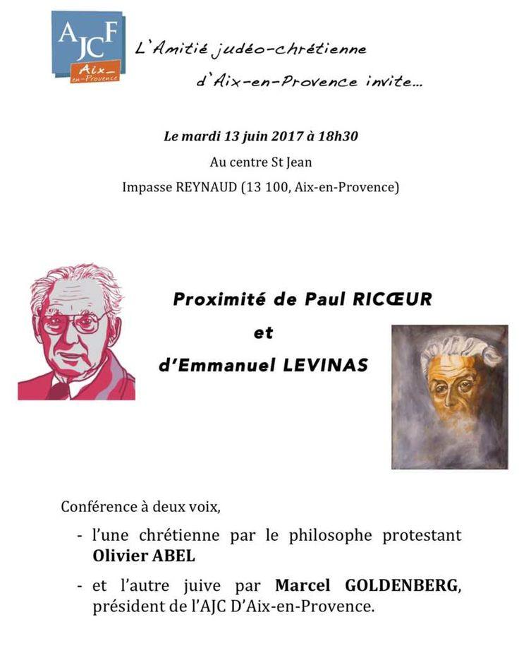 PROXIMITÉ DE PAUL RICOEUR ET D'EMMANUEL LEVINAS