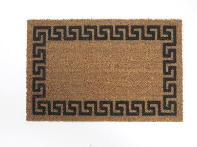 USCOA Intl 31681 Decoir Brush Entrance Mat - Greek Key by USCOA. $15.43. DeCoir brush entrance mats combine a natural elegance with superior cleaning performance. DeCoir mats are manufactured in the USA from natural coir (coconut) fiber bristles which are inserted into a weatherproof vinyl backing. The bristles offer a unique brush style cleaning surface. This cleaning feature is far superior to that of imitation cocoa mats and other synthetic mats. DeCoir mat is safe: They will ...
